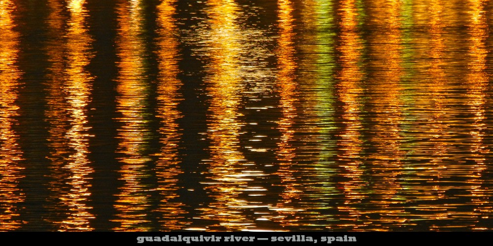 Guadalquiver River, Sevilla, Spain, eyes pried open productions